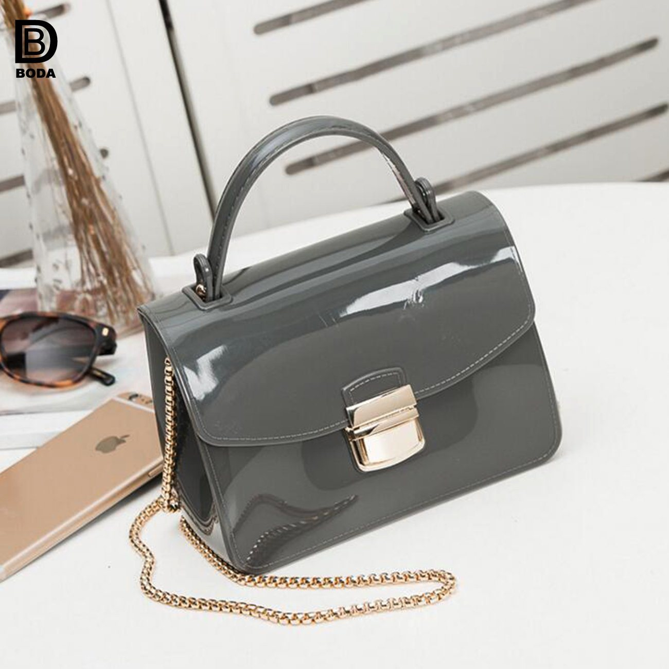 876892797a China Wholesale Jelly Candy Color Ladies Handbag with Single Shoulder Strap  - China Handbag