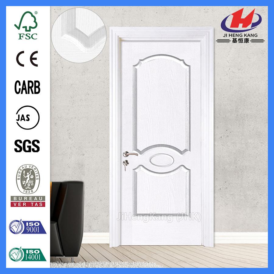 China Solid 6 Panel Doors Wooden Finished White Interior Door Jhk 007 Primer