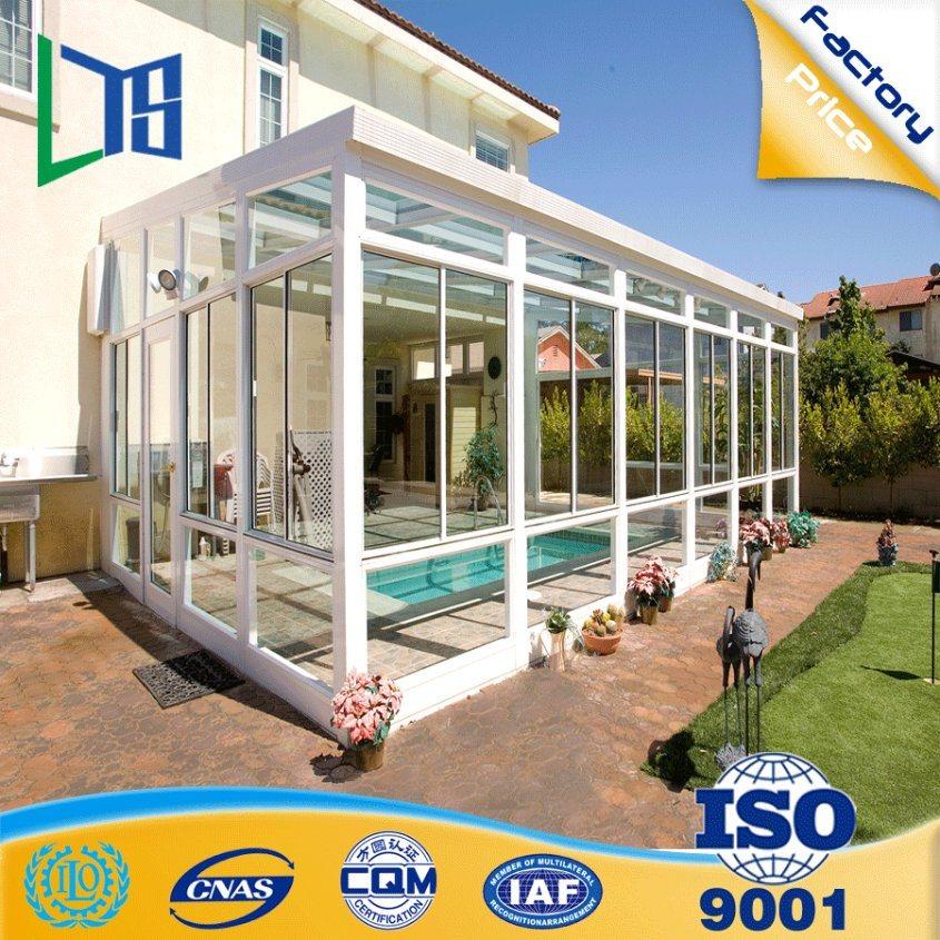[Hot Item] Experienced Manufacturer Aluminium Pool Enclosures Prefabricated  Glass House for Villa Pool Prefab Sunhouse