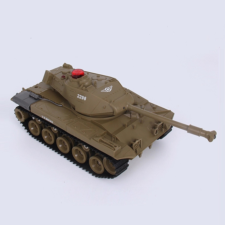 [Hot Item] Hot Plastic Toys 1: 30 Infrared Shooting Military Battle RC Tank