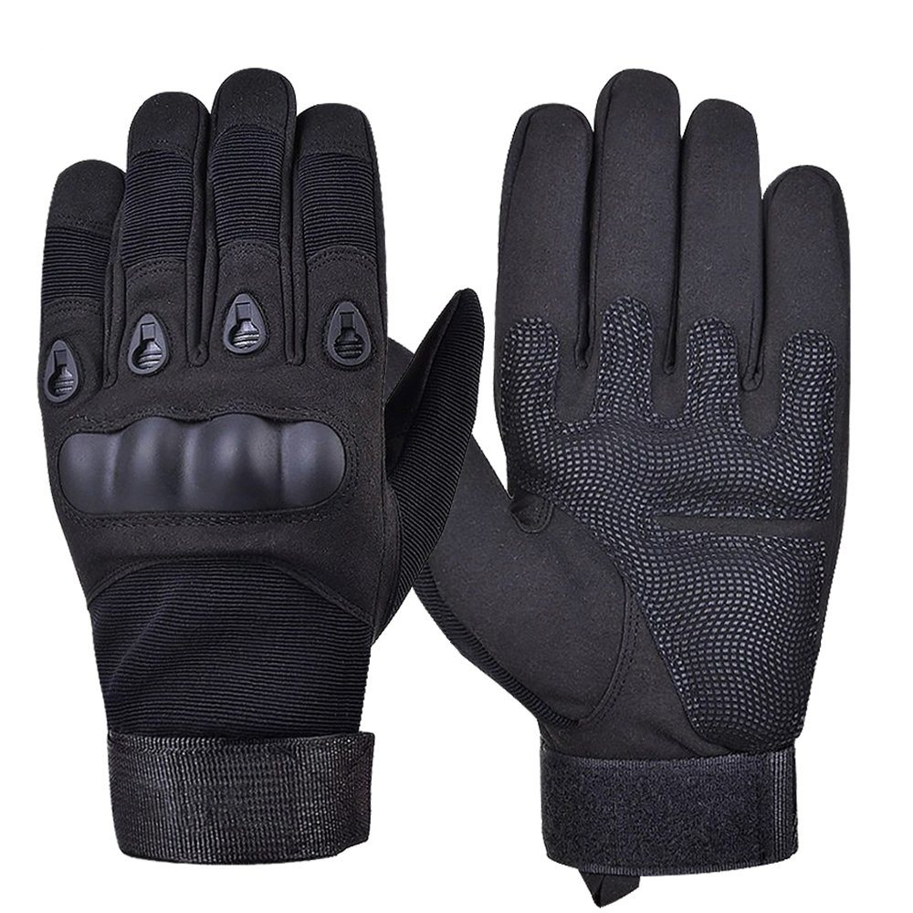 Military Police Tactical Synthetic Leather Gloves Black