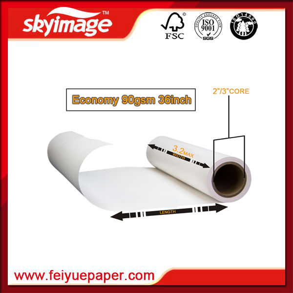 "Economy Sublimation Paper 90GSM 36"" Chinese Manufacturer for Home Textile Printing pictures & photos"