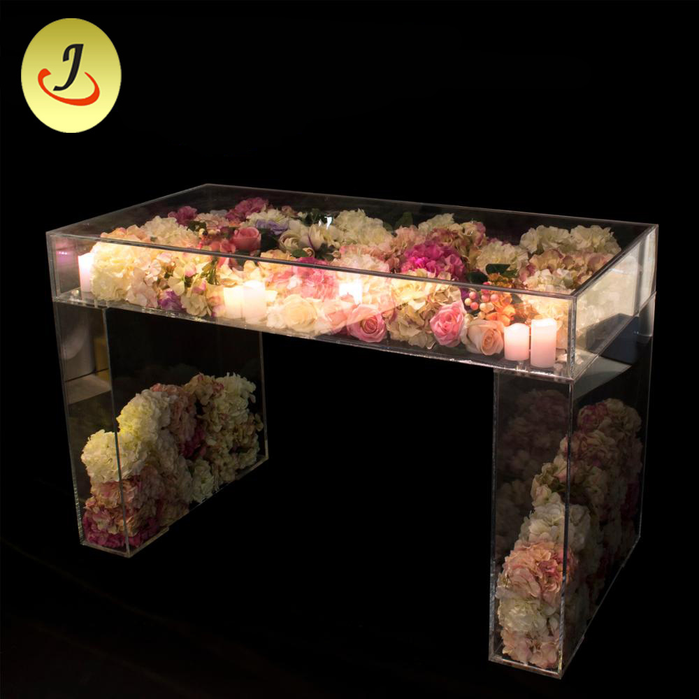 China Used Wedding Decoration Cheap Clear Rectangle Acrylic Tables