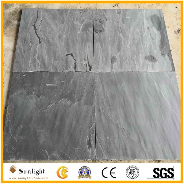 Split Black Slate Stone For Floor Tiles