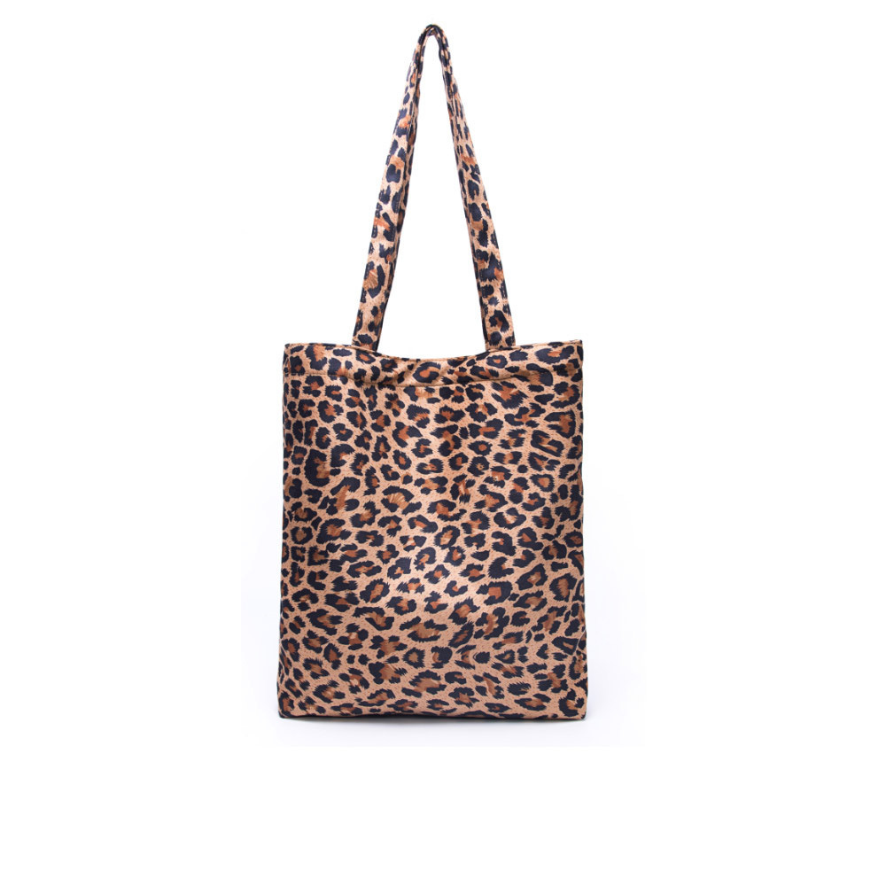 Leopard Print Suede Las Tote Bag