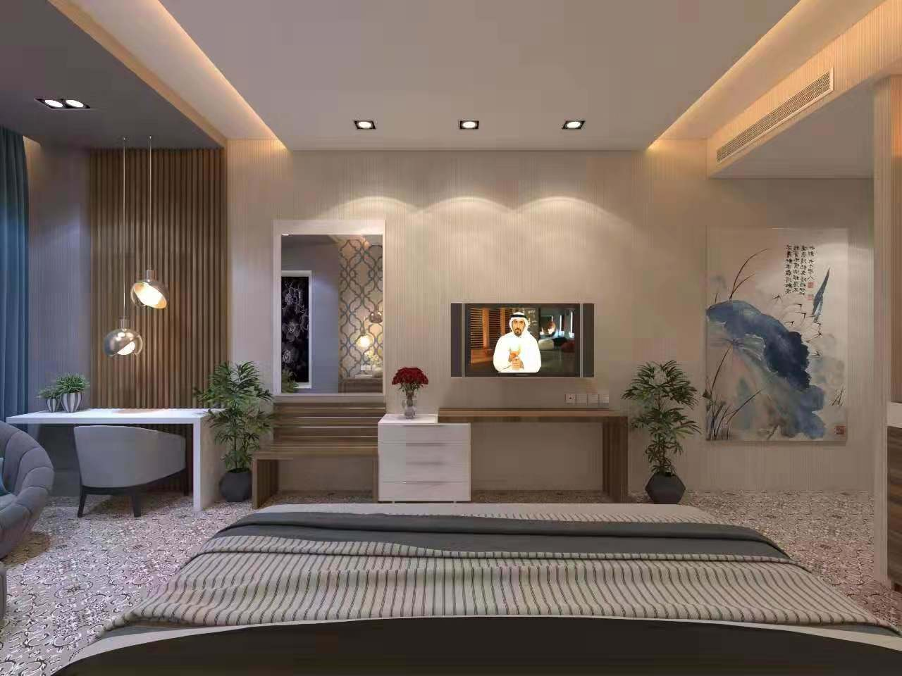 China Custom Made 5 Star Luxury Modern Wooden Hospitality Hotel Room Interior Bedroom Furniture Photos Pictures Made In China Com