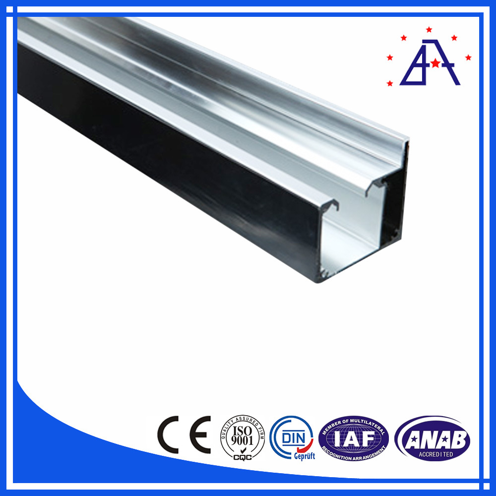 China Brilliance Anodized Aluminum Extrusion Profile For Shower