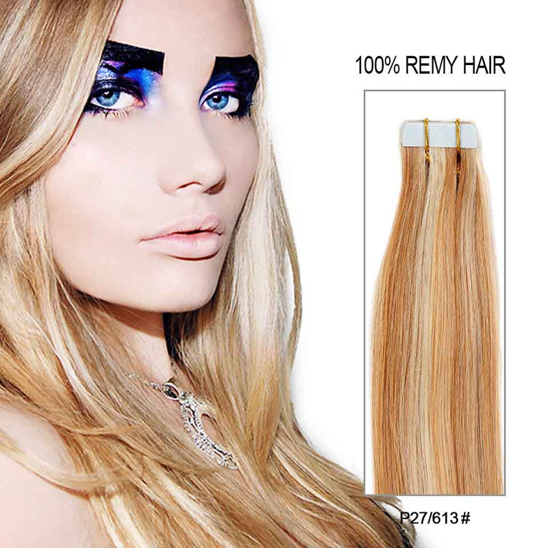 China Tape Hair Extension 20 Pcs Straight New Invisible Skin Weft