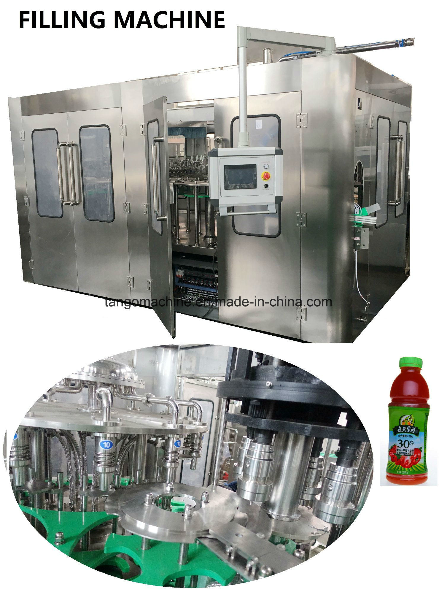 Automatic Complete Juice and Water Packing Bottling Line pictures & photos