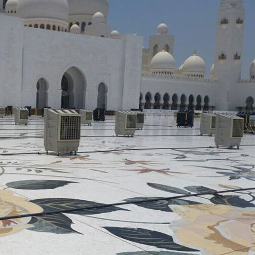 China Portable Evaporative Desert Cooler For Sheikh Zayed Mosque