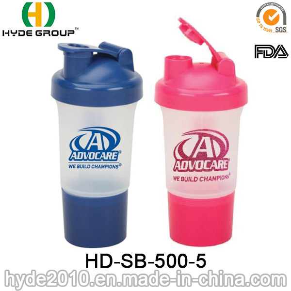 500ml BPA Free Wholesale Protein Smart Shaker Bottle (HD-SB-500-5)