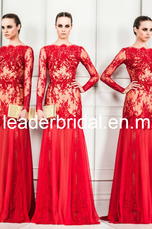 China Drop-Shippment Wedding Evening Dresses Zuhair-Murad Lace Prom ...