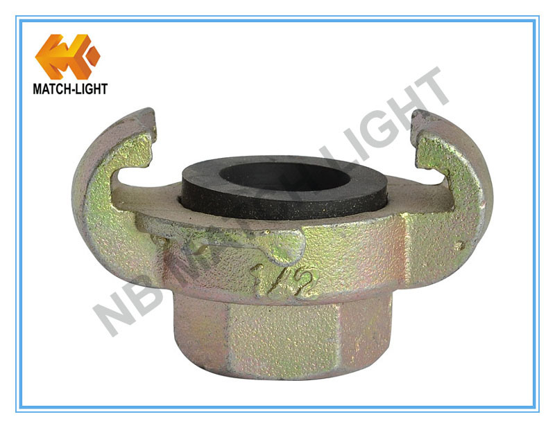 European Style Carbon Steel Zinc Plated Universal Air Hose Coupling
