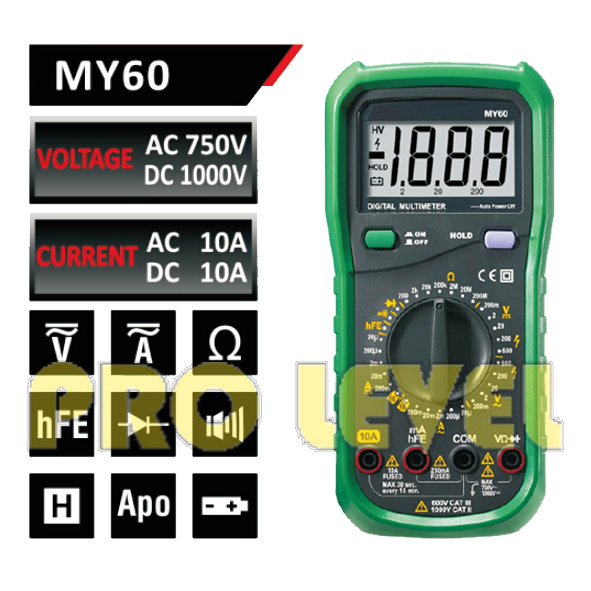 2000 Counts Professional Digital Multimeter (MY60)