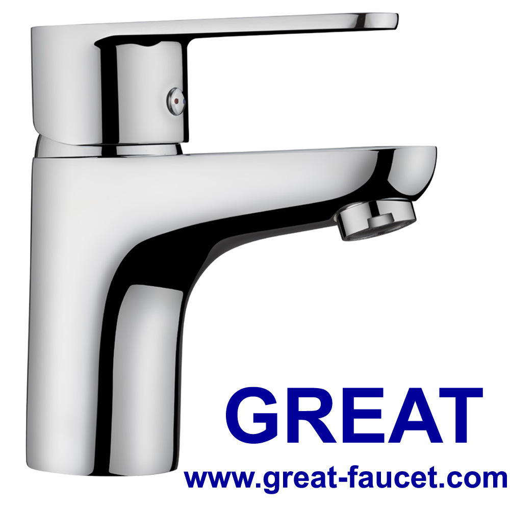 China Solid Brass Bathroom Sanitary Ware Brass Faucet Basin Faucet ...