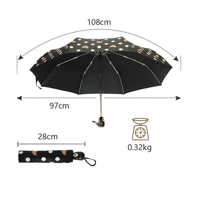 US Portable Transparent Folding Compact Umbrella Windproof Travel Rain Umbrella