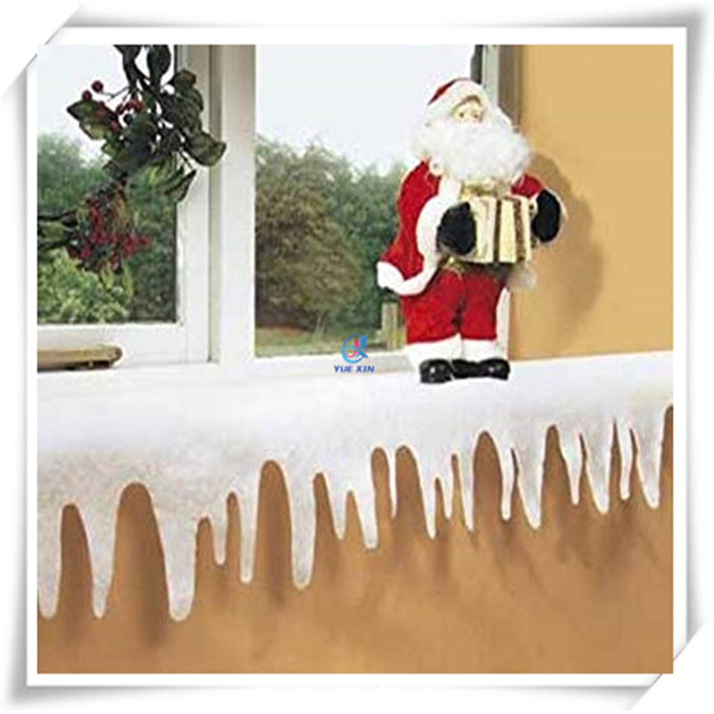 China 100 Polyester Material Fake Snow Icicle Border For Decoration China Christmas Decoration And Fake Icicle Fringe Price
