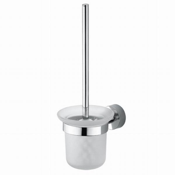 New Brushed Nickel Wall Mounted SUS304 Bathroom Toilet Brush Holder Set