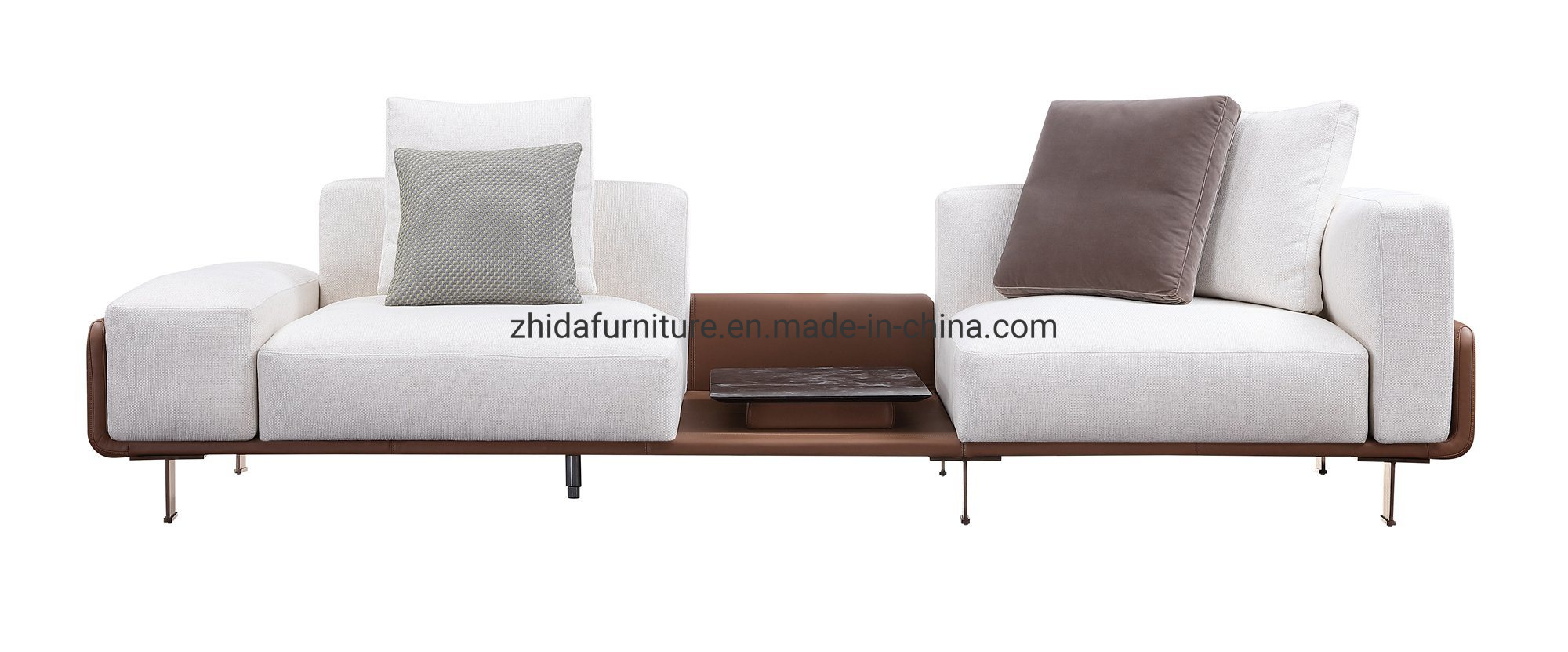 [Hot Item] Modern Furniture Lobby Fabric Leather L Shape Living Room Sofa