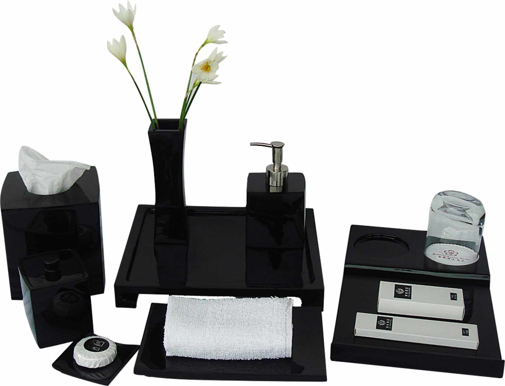 Black Finish Amenities Holder Set Hotel Balfour Price Bathroom Accessories pictures & photos