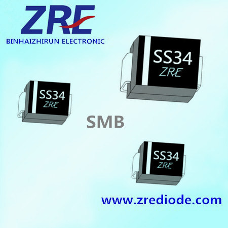 3A Schottky Barrier Rectifier Diode Ss32 Thru Ss320 SMB-Do/214AA Package