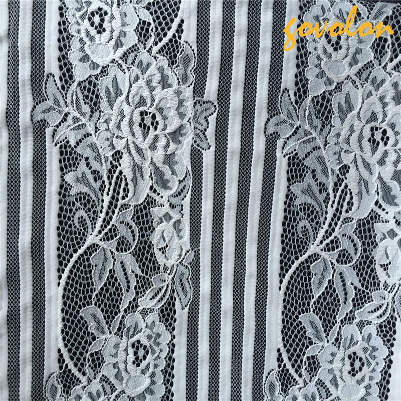Cotton Embroidery Lace Fabric with Mesh pictures & photos