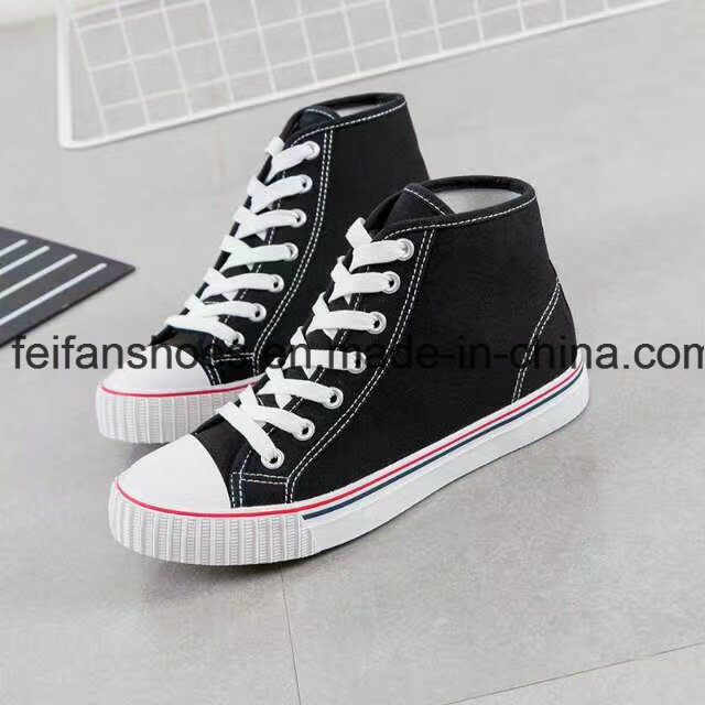 Classic Students Vulcanized Canvas Shoes Casual Rubber Shoes (FF1027-02) pictures & photos