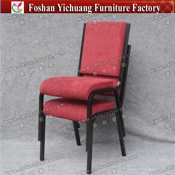 Enjoyable Hot Item Yc G71 1 Comfortable Red Cover Fabric Stacking Metal Church Chairs Machost Co Dining Chair Design Ideas Machostcouk