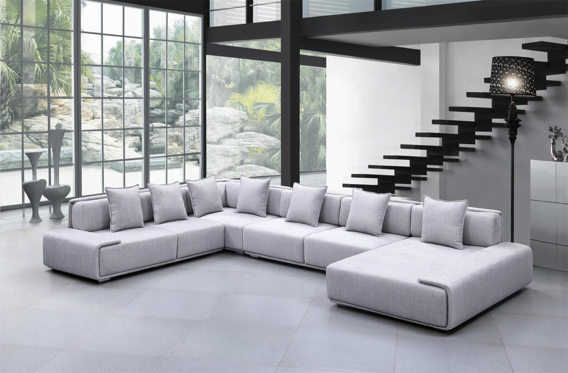 China Modern European Design Living Room Furniture Large U Shaped ...