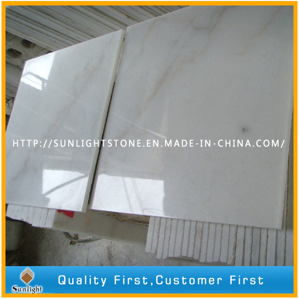Cheap China Polished Guanxi/Bianco White Marble Stone Floor Tile for Flooring / Wall pictures & photos