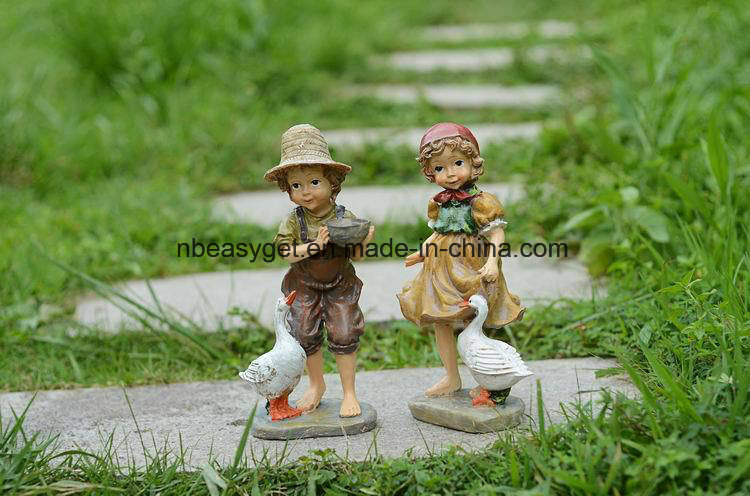 China Resin Figures Garden Decoration, Outdoor Figures For The Garden