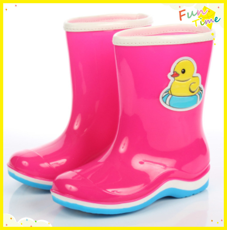 Kids Waterproof Rubber Rain Boots Girls Boys