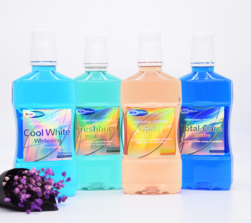 China OEM ODM Private Label Cool White Mouthwash Mint Mouth Wash for