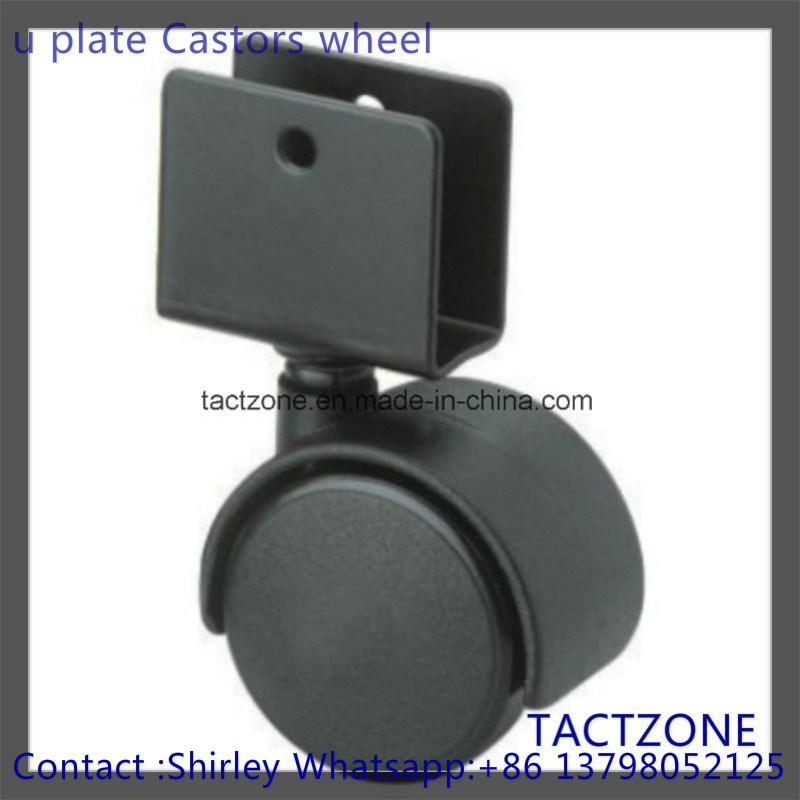 Hot Item Wu Clip Nylon Black Furniture Hardware Wheels For Shopping Cart