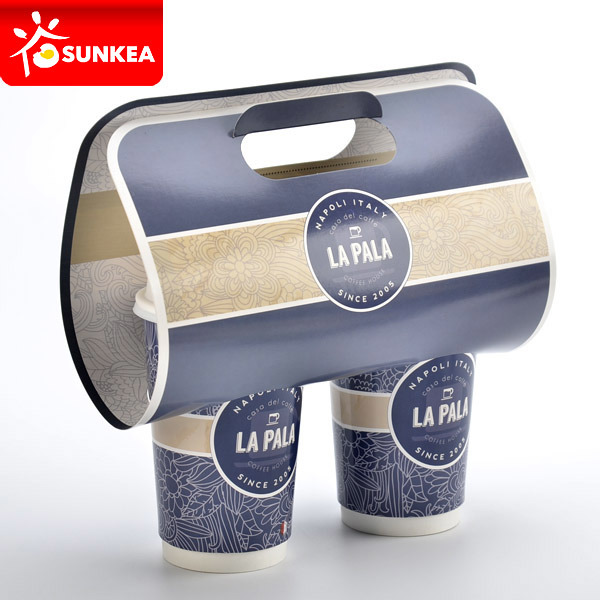 China Disposable Paper Coffee Cup Holder Food Box