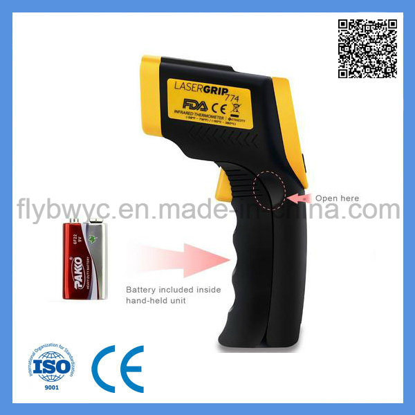 Digital LCD Non-Contact Gun Shape Industrial Pyrometer Infrared Laser IR Infrared Thermometer