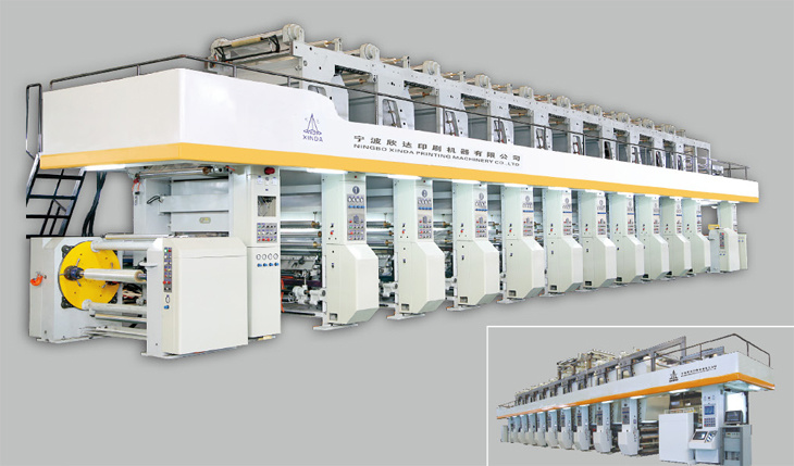Rotogravure Printing Machine with Electronic Shaft Drive of 300m/Min pictures & photos