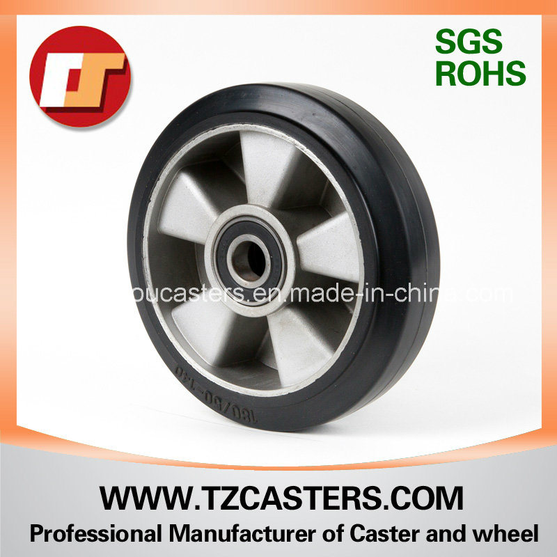 High Elastic Rubber Wheel with Aluminum Center Ra180*50