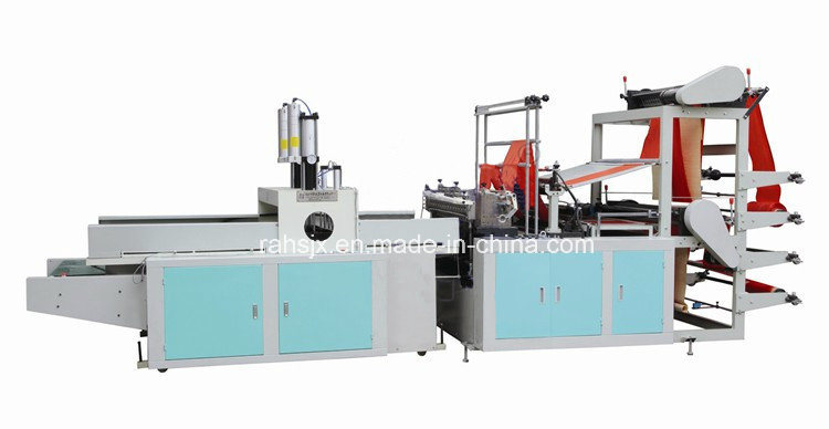 Full Automatic 4 Line Cold Cutting T-Shirt Bag Making Machine