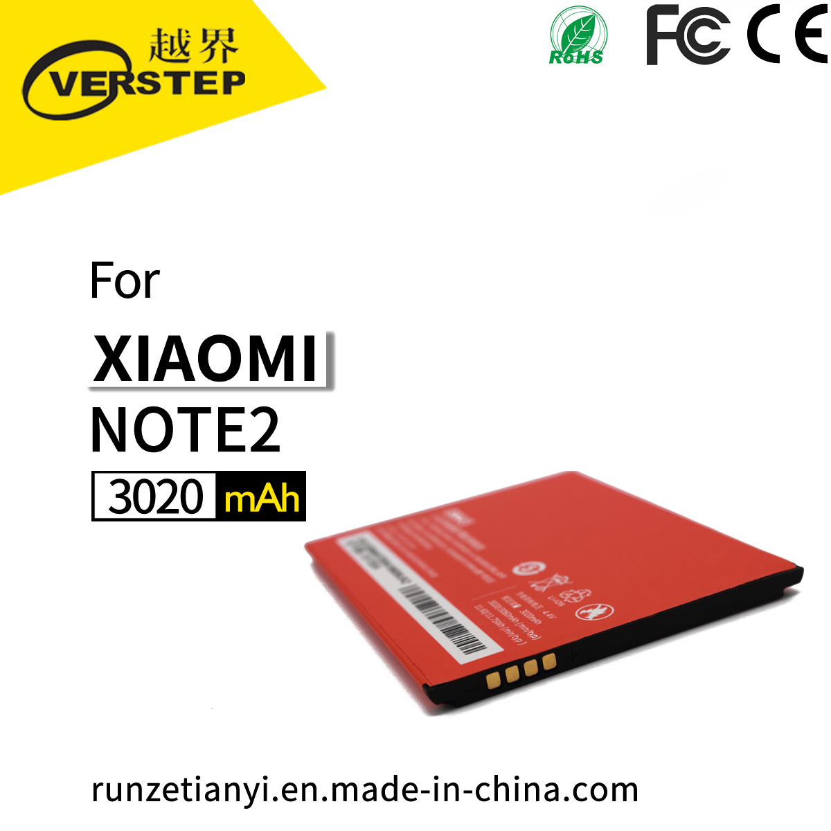 Original Battery Bm45 for Xiaomi Hongmi Redmi Note 2 Replacement Battery