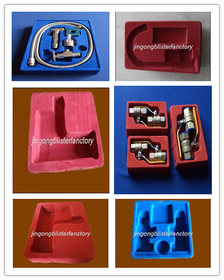 Plastic PS Vacuum Formed Flocking Valve Tray