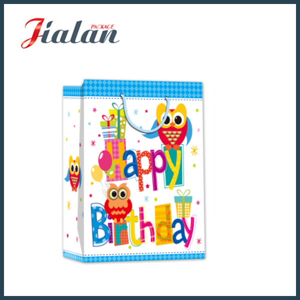 Wholesale Cheap 4c Paper Printed Happy Birthday Shopping Gift Bags