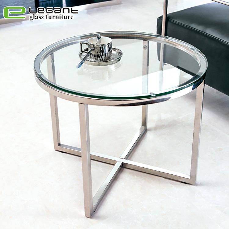 [Hot Item] Minimalist Living Room Tempered Glass Top Small Tea Table