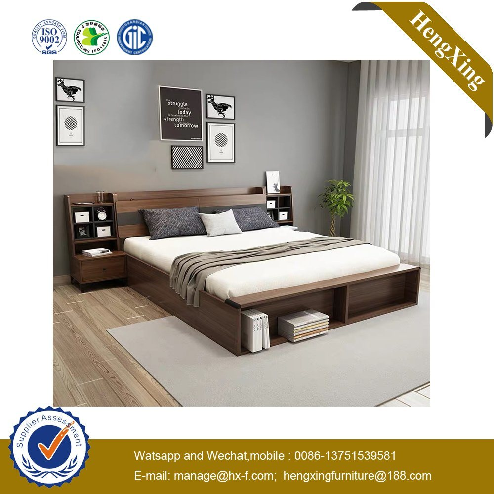 Fashion Wooden MDF Home Hotel Bedroom King Size Double Bed UL 9be129