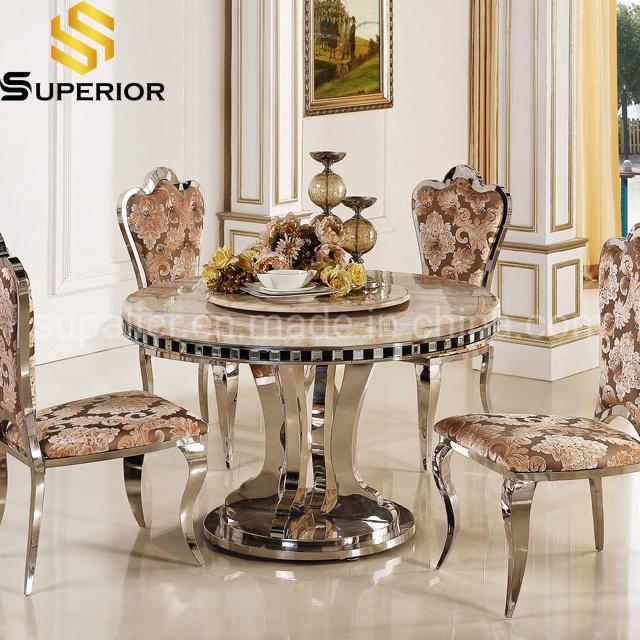 China Modern Furniture Set Round Marble, Luxury Round Table