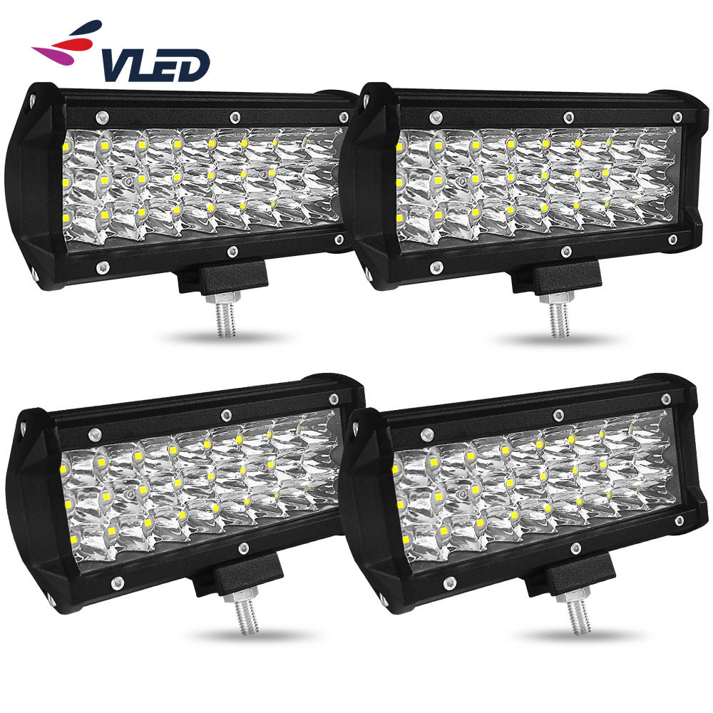 """126W 20/"""" inch Cree LED WORK LIGHT BAR FLOOD SPOT COMBO OFFROAD 4WD ATV Driving"""