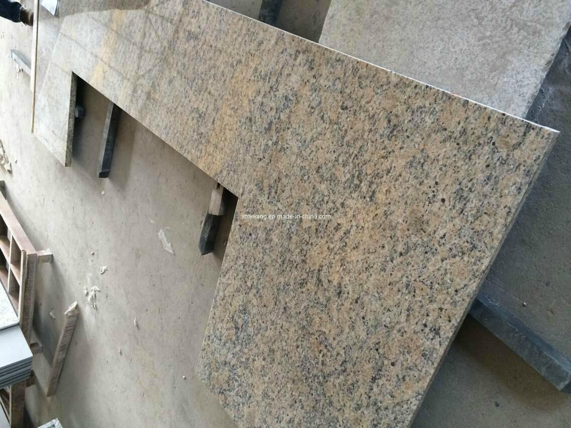 China Giallo Santa Cecilia Granite Countertops For Bathroom Or Kitchen