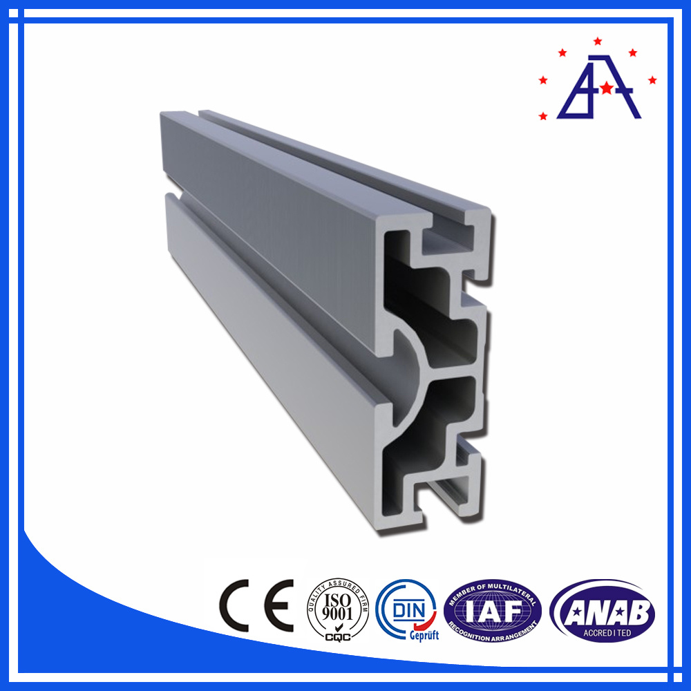 Aluminum 6063-16 T-Slotted Heavy Profile Extrusion with Clear Anodize Finish