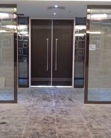 Aluminum Interior Restaurant Wood Double Swing Door