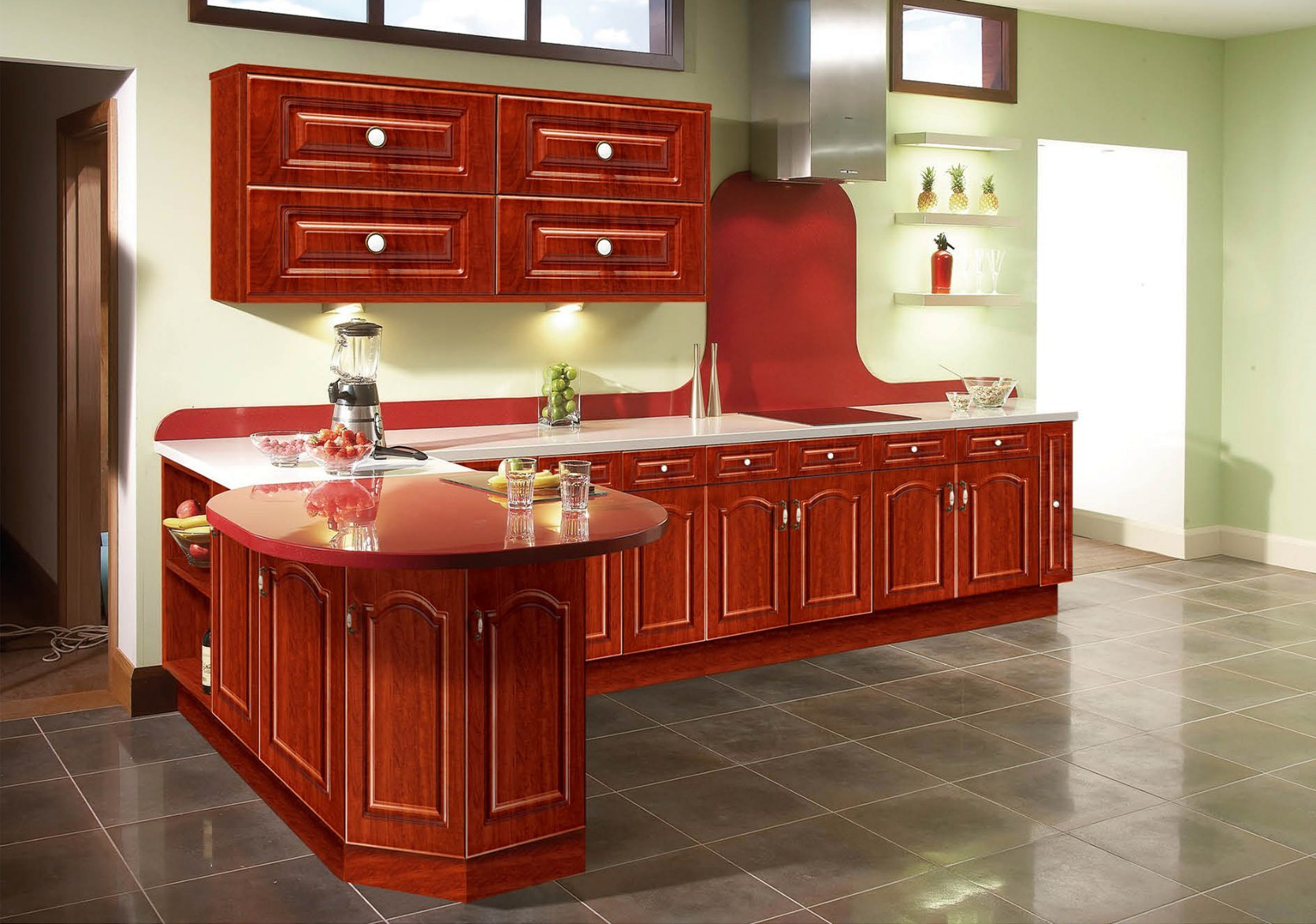Attractive China Vinyl Wrap Kitchen Cabinet Door For Shaker Doors Styles (xs 003)    China PVC Kitchen Cabinet, PVC Kitchen